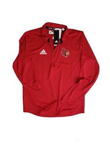 Adidas【Small】St Louis Cardinals LS 1/4 Zip Knit Shirt【124922548】Red NCAALO