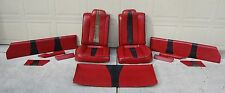 Custom Alligator Trim 1985 - 88 Monte Carlo SS Red Seats, Door Panels, Headliner