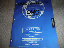 1998 OMC VOLVO STERN DRIVE PARTS MANUAL 7.4 8.2 LITRE MODELS