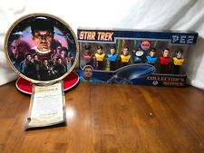 Star Trek The Search For Spock Collectors Plate & Pez Star Trek Collectors Serie