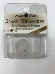 Mill Hill Glass Treasures glass bead for sewing #12023 -1-lg pearl tulip NIP