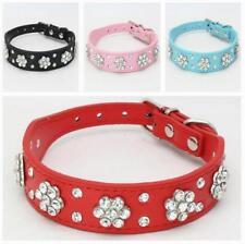 Diamantes De Imitación Cuero PU Mascota Collar de perro para pequeños Perros medianos Bling Lindo Chihuahua