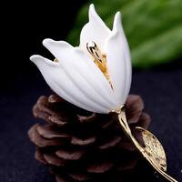 1PC Women Jewelry Flower Shape Alloy Tulip Brooch Pin Decor Gift Fashion Elegant