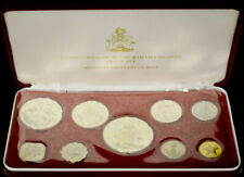 Bahamas 1973 silver 9 Coin (4 Silver) Proof Set Original Case Coa As Issued