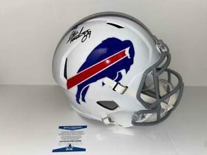 Steve Tasker Autograph Signed Full Size Replica Buffalo Bills Helmet Beckett COA