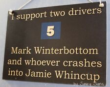Mark Winterbottom v Jamie Whincup V8 Supercars Holden Ford Commodore Sign