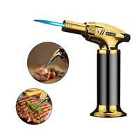 Jet Torch Gun Lighter Welding Adjustable Flame Windproof Refillable Gas for BBQ