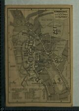 1897 Baedeker Map Plan of Cambridge / Plan of Ely Cathedral