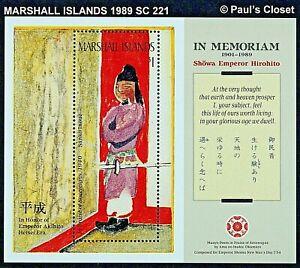 MARSHALL ILS 1989 SC 221 IN PRAISE OF SOVEREIGNS - HIROHITO S/S MNH OG VF