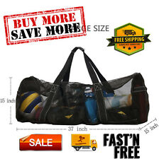 Xxl Mesh Dive Bag for Scuba or Snorkeling with Zipper and Pockets, Extra Large