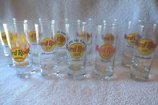 "11 Hard Rock 4"" Shot Glasses Red & Black Letters Save the Planet-All Different!"