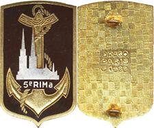 5° Régiment d'Infanterie de Marine, émail, guilloché, Drago 1988 (7241)