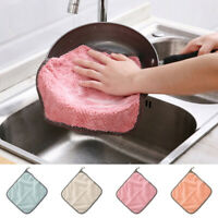 10pcs Microfiber Dishcloth Kitchen Washing Cleaning Towel Dish Cloth Wipe New er