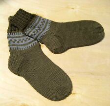 Russian Men's Wool Socks Hand Knitted Handmade  #3