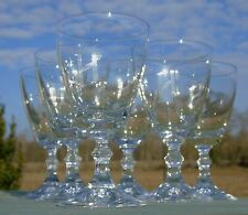 Cristal d'Arques? Service de 6 verres à vin rouge en verre cristallin monogrammé