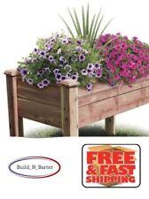 "24"" Wx 48"" Lx 32"" H Rustic Cedar Elevated Garden Bed Raised Box Vegetable Flower"