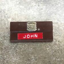 Vintage Burger King Name Tag Badge John