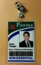 Parks and Recreation ID Badge -City of Pawnee Chris Traeger costume prop cosplay