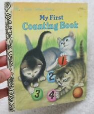A Little Golden Book My First Counting Book 1957 1956 Vintage Children's Kittens