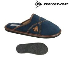 Mens Dunlop Mule Slippers Navy Blue Textile Strong Sole Garden Size 6 - 12 UK