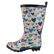 Slip - on Medium Width Rubber Boots Shoes for Girls