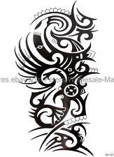 "US SELLER, body art tattoo black tribal totem 8.25"" large arm temporary tattoo"