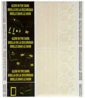 Duck Brand Duct Tape Sheet Glow In The Dark Stripes & Circles 44 Pieces