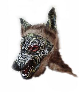 Latex Scary Animal Latex Mask Halloween Fancy Dress Adult Costume Prank UK Stock