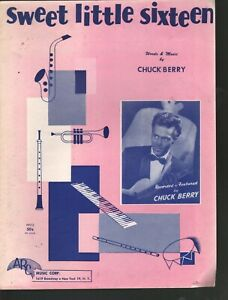 Sweet Little Sixteen 1958 Chuck Berry Sheet Music
