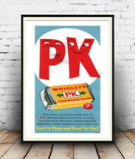 PK chewing Gum :   Vintage poster reproduction