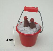 lot de deux bouteilles de soda dans seau glaçons,maison de poupée,boisson *CL11
