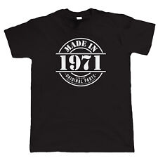 Made in 1971 Mens Funny T Shirt, Gift for Him Dad Grandad Birthday