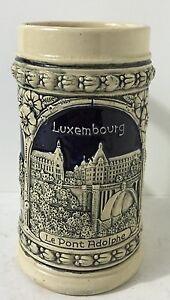 Ancien Broc Luxembourg Le Pont Adolphe H 16,5 Cm Voir Photos