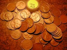 1939-P LINCOLN WHEAT CENT PENNY ROLL, HIGH GRADE!! VF-XF!!!!!
