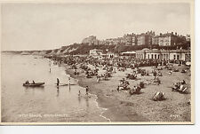 POSTCARD BOURNEMOUTH WEST SANDS BEACH PAVILION   VINTAGE B&W REAL PHOTO OLD