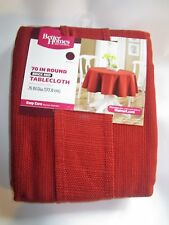 """Better Homes and Gardens Brick Red Round 70"""" in. Tablecloth"""