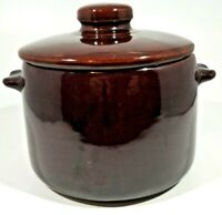 Westbend Brown Glaze Stoneware Crock Bean Pot Half Gallon