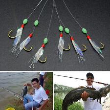 Stainless Steel Fishing Hooks Rigs Wire Leader 6 Swivel Carp Anti-winding String