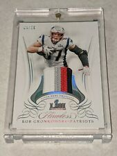 2019 Flawless Super Bowl Swatches Rob Gronkowski Patch Four Color 4/20
