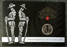 2015 THE SPIRIT OF ANZAC   50 CENTS UNC COIN IN COLLECTIBLE PACK!!!! RARE
