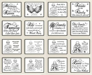 Inspirational Prints Posters Motivational quotes Buddha, Angelic, Family Quotes