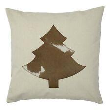 Zierkissen 50x50 Cm Vintage Weihnachten Tannenbaum Dekokissen mit Applikation