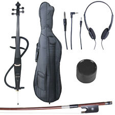4/4 Electric Cello Full Size Ebony Style 3 ~Black