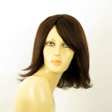 Perruque femme 100% cheveux naturel châtain ref CORALIE 6