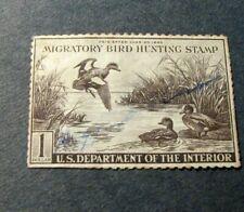 US  Stamp RW9  Hunting Permit 1942 L265