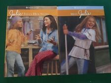 American Girl Books Meet Julie & Julie Tells Her Story Two Book Lot Girls Story