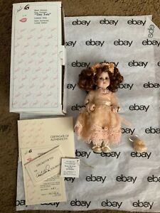 "Marie Osmond ""Morgan 1996"" Tiny Tot Porcelain Doll Upright, Orig Box, COA"