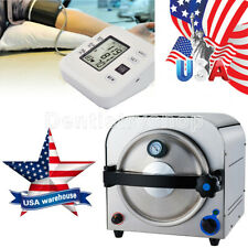 UPS Dental Lab Equipment 14L Autoclave Steam Sterilizer+Blood Pressure Monitor