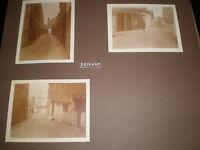 3 old photographs street views in Brixham c1920s