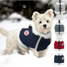 Winter Dog Harness Warm Fleece Clothes Pet Puppy Vest Coat Jacket Apparel S-XL